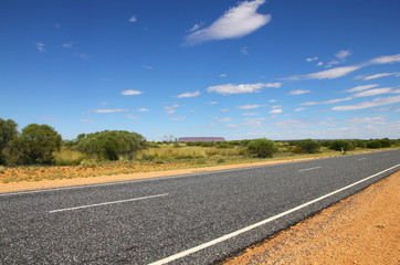 Road in the desert (NT, Australia)