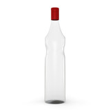 3DGlass bottle isolated on white background.