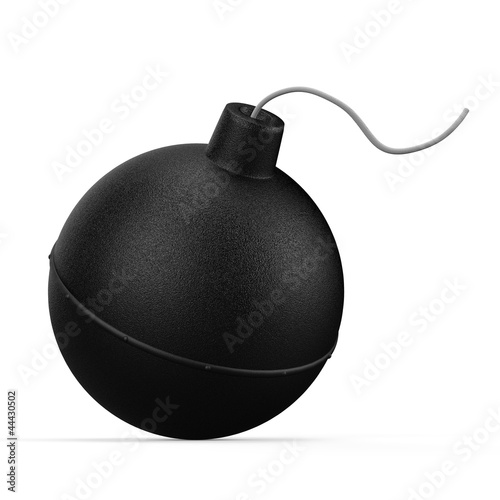 Bomb. 3D illustration isolated on white background