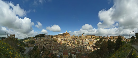 View of a typical ancient city, Sicilia, Agrigento Province