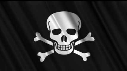 Seamless looping pirate flag.