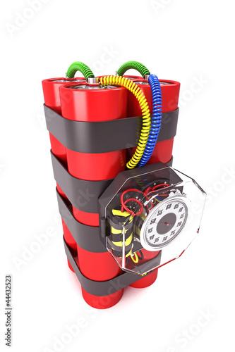 illustration of 3d image of dynamite time bomb