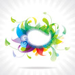 Abstract Background of colorful floral frame.