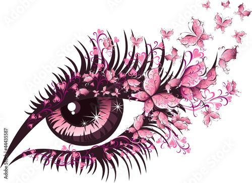piekne-kobiece-oko-z-motyli