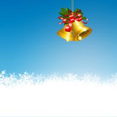 Weihnachtsdekoration, Glocke, Eisblumen, Himmelblau, Kristalle