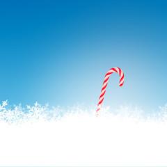 Weihnachten, Hintergrund, Zuckerstange, Eiskristall, Blau, Deko