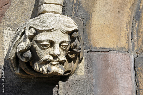 Stone Carving On Church
