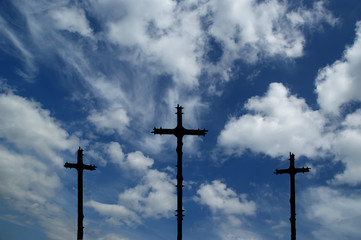 Cross Silhouette against dramatic Sky