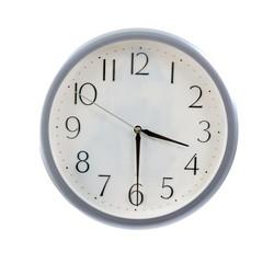 isolated white clock