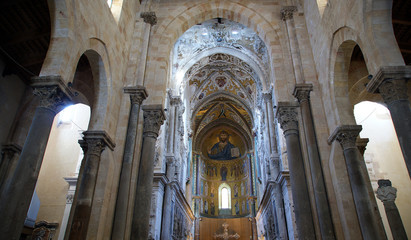 The interior Cathedral-Basilica of Cefalu