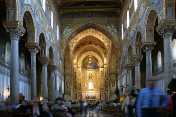 The interior Cathedral-Basilica of Monreale