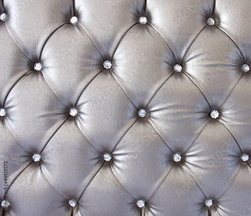 Staande foto Leder luxury texture of leather furniture decorated with crystal