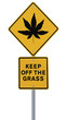 Marijuana Leaf Road Sign