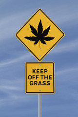 Marijuana Leaf Road Sign