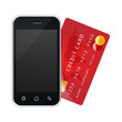 e-commerce , smartphone with credit card