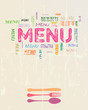 Menu card design template, free copy space
