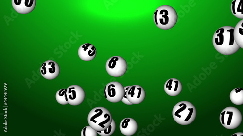 Flying lotto balls in 3D space