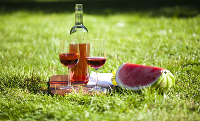 Wine on the grass