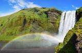 Cascata con arcobaleno,  Skogafoss poster