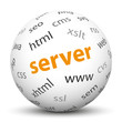 Kugel, Server, PHP, CMS, JSP, Perl, Sphere, Ball, Webmaster, 3D