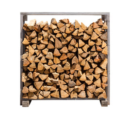 Stacked Firewood Isolated on white