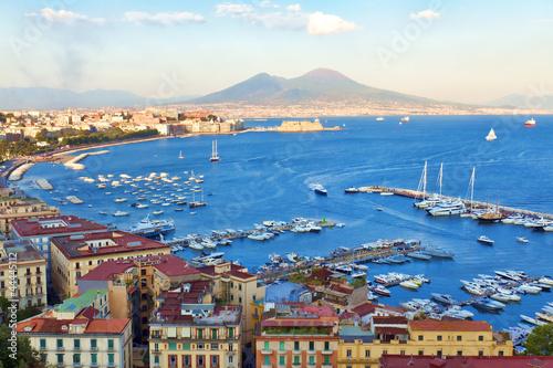 Canvas Kust Veduta del Golfo di Napoli