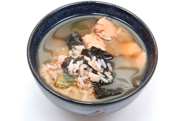 Bowl of organic iodine enriched seaweed and albacore gumbo