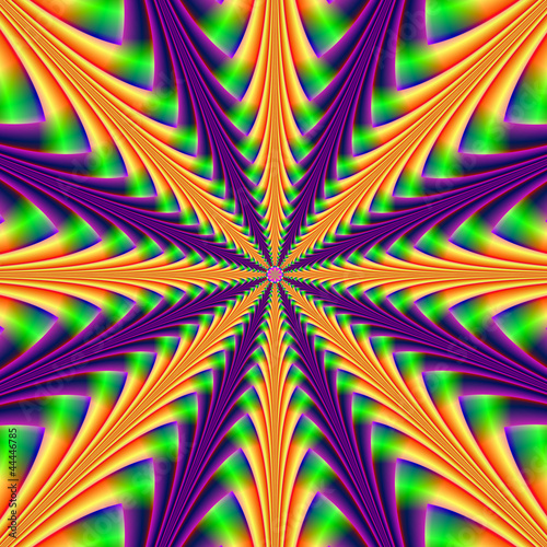 Staande foto Psychedelic Centerpoint in Purple and Orange
