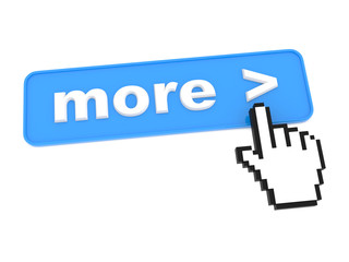 """Social Media Button """"More"""" on White Background"""