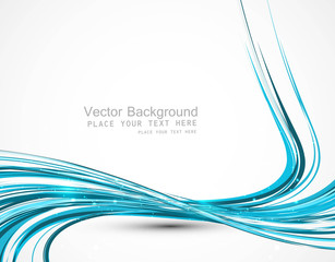abstract colorfull blue line wave vector design