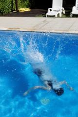plongeon piscine