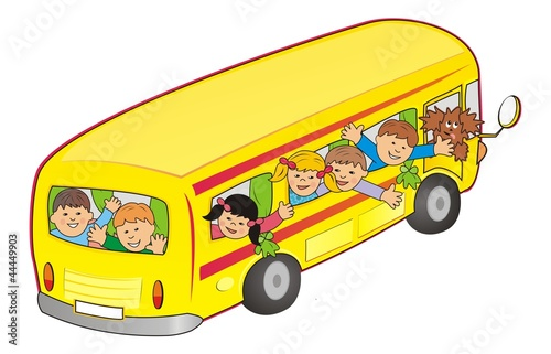 bus and children