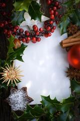Weihnachtszeit, Textfeld