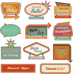 Retro banner sign/ad collection