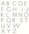 Roman Monoline Capitals with geometric grid