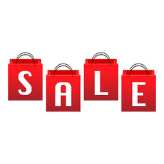 Sale, red bags