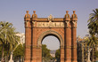 Arc of triumph of Barcelona, Catalonia, Spain.