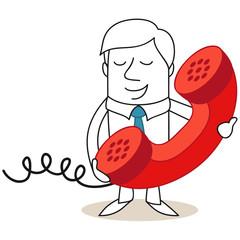 Geschäftsmann, Telefonieren, Telefonhörer