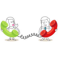 Geschäftsleute, Telefonieren, Telefonhörer