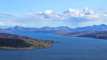 Time lapse view down the Sound of Mull, Scotland