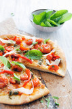 Gourmet roasted tomato pizza