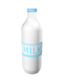 Milk bottle with label MILK