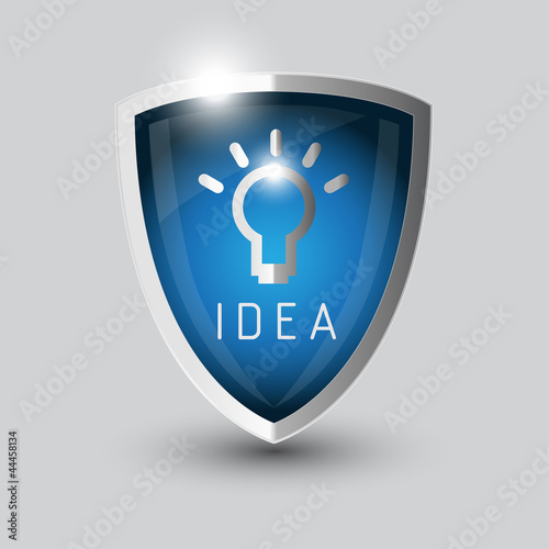 Idea bul symbol shield
