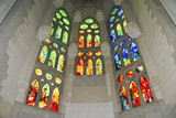 Stained glass window, Sagrada Familia