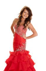 teen dress red