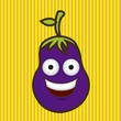 Cartoon eggplant