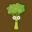 Cartoon of broccoli
