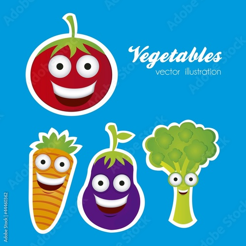 cartoon vegetables