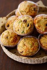 savory cheese cranberry muffin