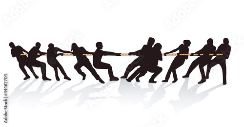 Gemeinsam am Seil ziehen